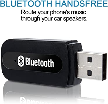 3.5mm USB Aux Wireless Bluetooth Stereo Audio Music Car Kit Adapter Receiver