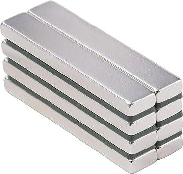 Pack de 8 imanes de barra de neodimio de 60 x 10 x 5 mm: Amazon.es: Bricolaje y herramientas