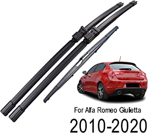 Xukey Front + Rear Windshield Wiper Blades Set Fit For Alfa Romeo Giulietta 940 2010-2020(Set of 3)
