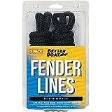 Boat Fender Lines for Boat Bumper Fender Hangers Marine Rope for Boats Jet Ski Double Braided Nylon 6 Feet