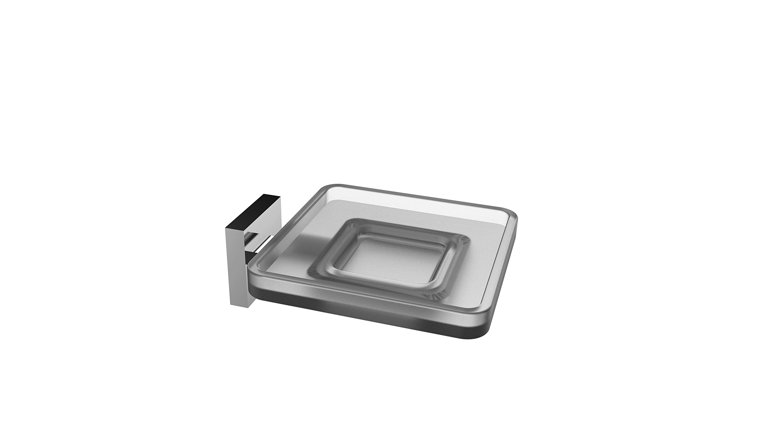 Eviva Evac810Bn Plater Glass Soap Holder Wall Mount (Brushed Nickel) Combination by Eviva
