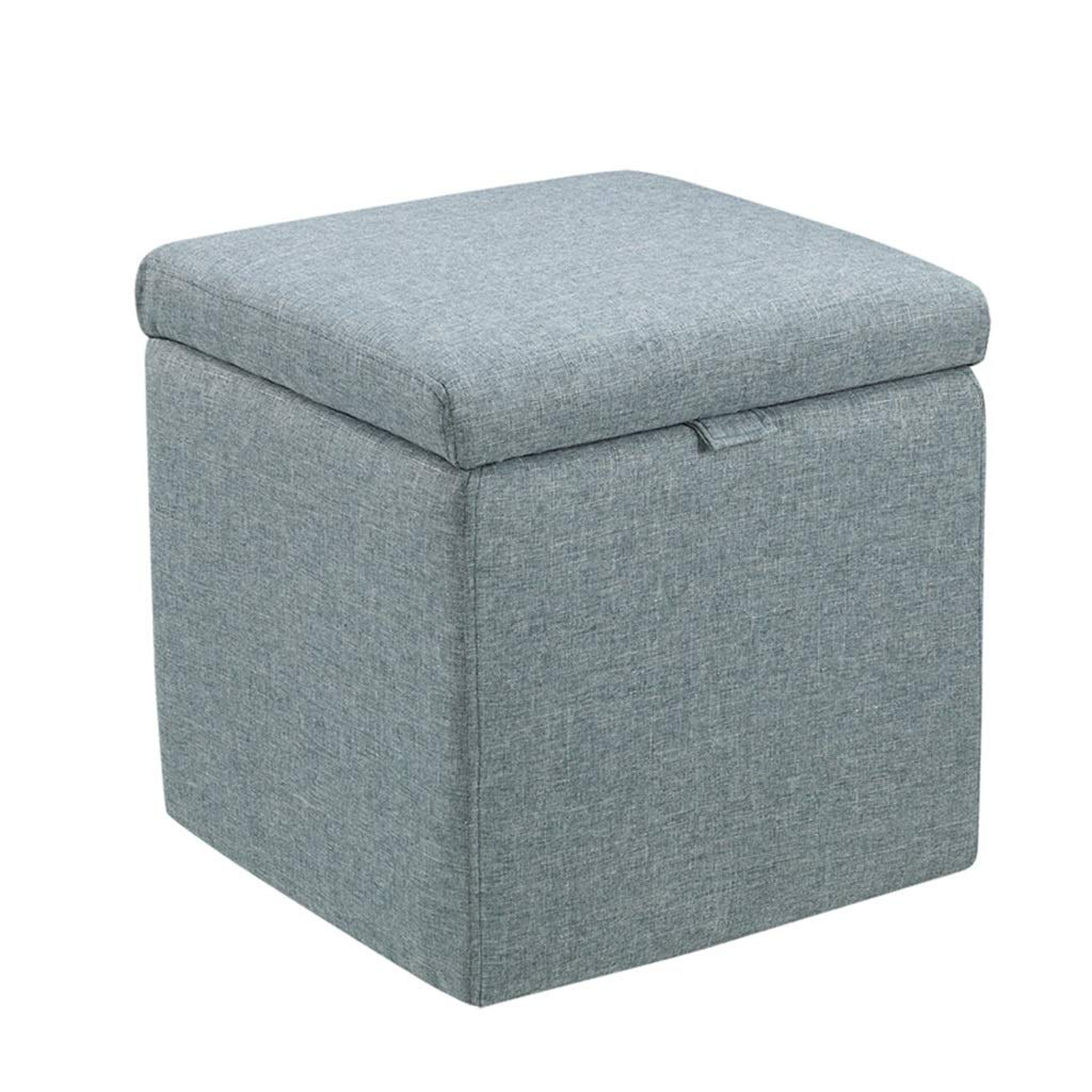 003 16.92×16.92×17.71  TYJY Fabric Storage Stool, Small Sofa Bench, Bedside Stool, shoes Bench (color    002, Size   16.92×16.92×17.71 )