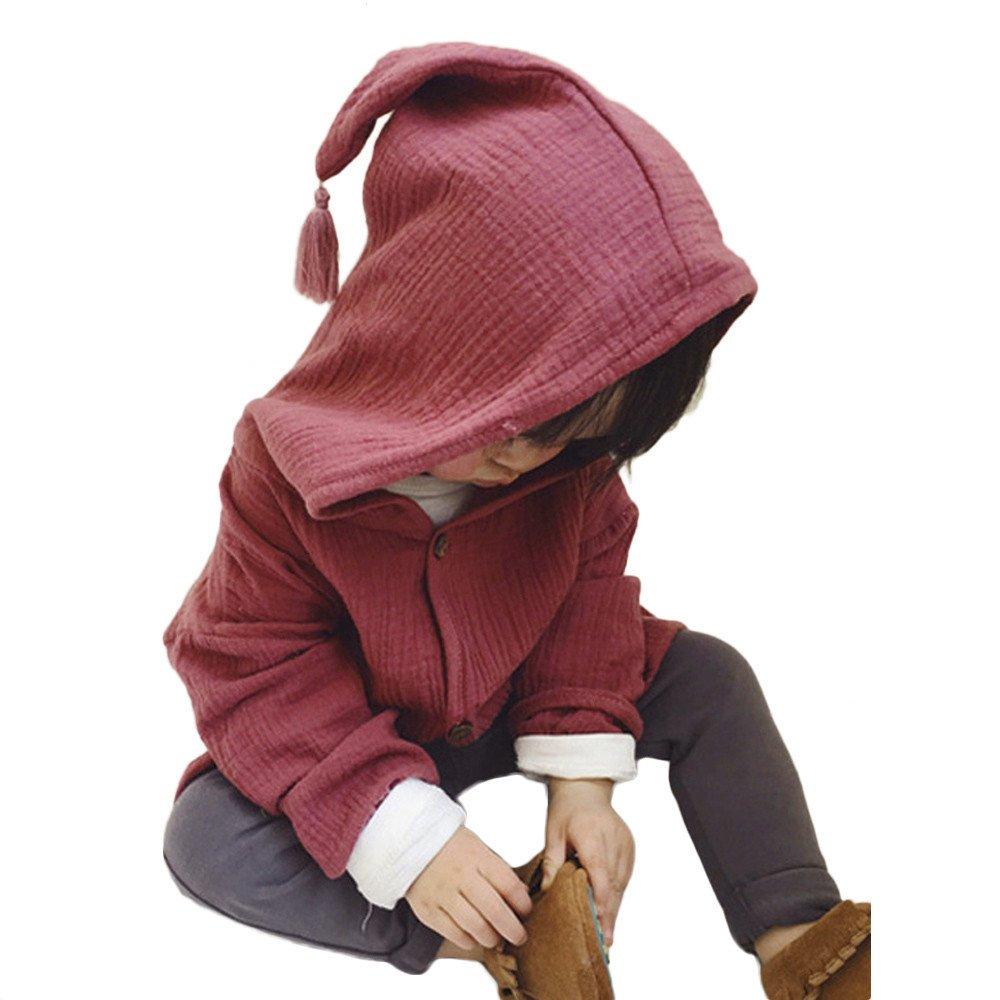 Giacca Bambino Pulsante Caldo, Homebaby Giacca Del Mantello Del Cappotto Di Inverno Della Neonata Giubbotto Vestiti Caldi Spessi Felpa Maniche Lunghe