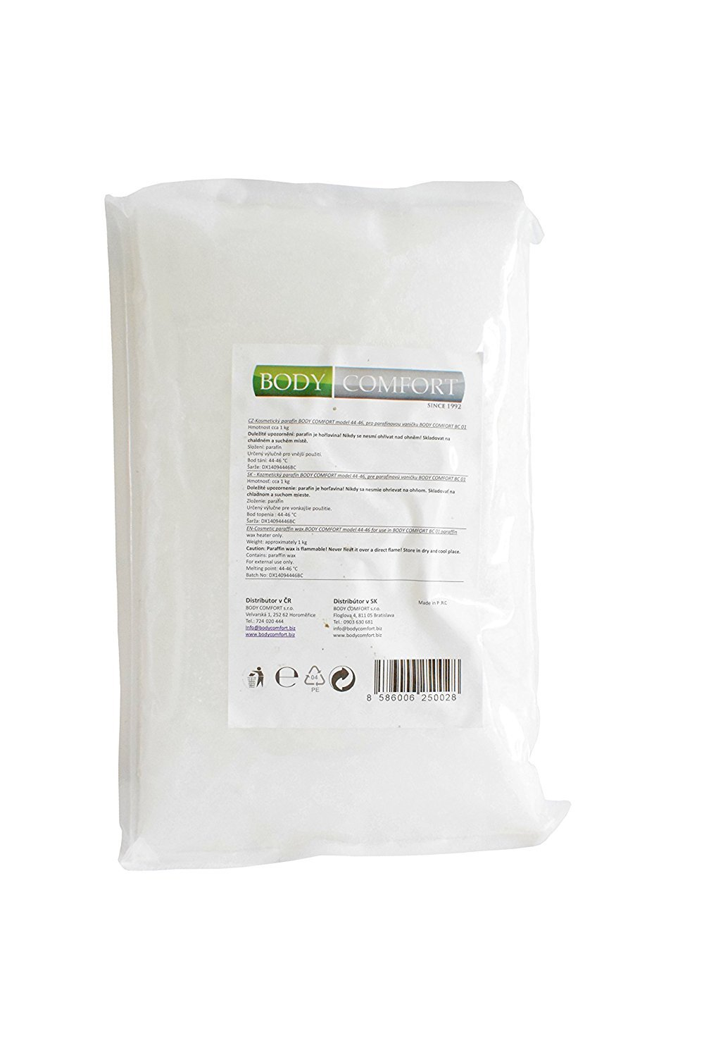 Cosmetic Paraffin Wax Body Comfort BC 02 approx. 1 Kg: Medically tested cosmetic + health care wax with lowest melting point on the market 44-46 degrees Celsius, BodyComfort