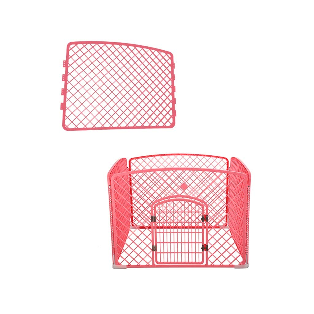 RED 10010075cm RED 10010075cm LIZHIQIANG Pet Dog Small Animal Cat Exercise Playpen Fence Enclosure Cage Den,Dog Cage, Small Medium Dog Dog Fence, Pet Fence, Fence, Indoor Dog Supplies (color   RED, Size   100  100  75cm)