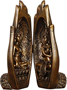 Lzttyee 1 Set Buddha Sitting in Hand Resin Statue,Buddhist Figurines Zen Gifts for Home/Buddhist Temple Decor
