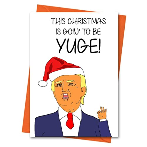 Huge Christmas Card.Funny Christmas Card Trump Christmas Card Donald Trump Xmas Card