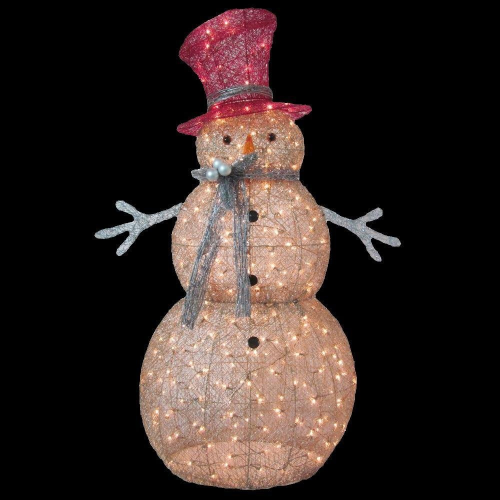 5 ft. Pre-Lit Gold Snowman by Home Accents Holiday