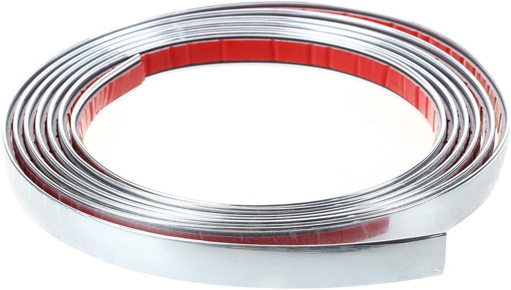 Car Chrome Styling Decoration Moulding Trim Strip 12mm R SODIAL