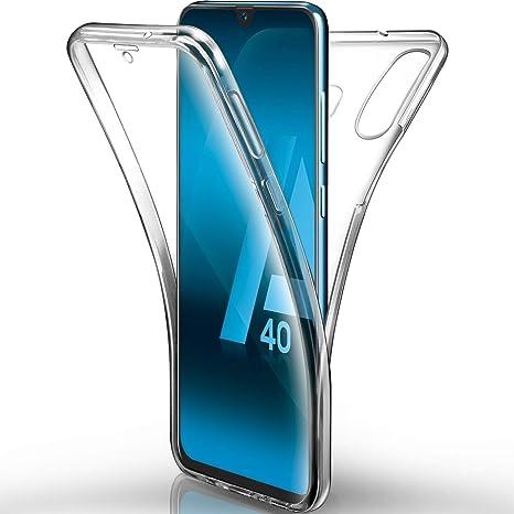 AROYI Funda Samsung Galaxy A40 Transparente,Silicona Doble Cara ...