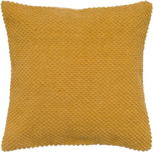 Rizzy Home T05279 Handloom Weave with Dot Decorative Pillow, 20 by 20-Inch, Mustard (Yellow Pillow Mustard)