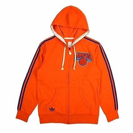 adidas New York Knicks de la NBA naranja Originals Springfield Full cremallera equipo Classics Sudadera con
