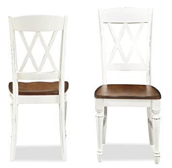Home Styles 5020 802 Monarch Double X Back Dining Chair, Set Of 2
