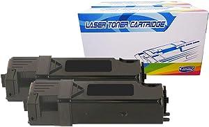 Inktoneram Compatible Toner Cartridges Replacement for Dell 2150/2155 2155cn 2150cdn 2150cn 2155cdn 331-0719 (Black, 2-Pack)