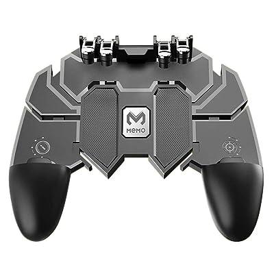 A&DW Six Fingers PUBG Game Controller Gamepad Metal Trigger Shooting Free Fire Gamepad Joystick para iOS Android Teléfono móvil: Electrónica