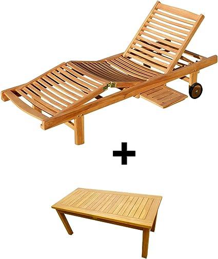 Amazon De Ass Hochwertige Teak Sonnenliege Gartenliege Strandliege Liegestuhl Holzliege Holz Sehr Robust Modell Cozy Beistelltisch Coco 110x50cm Von