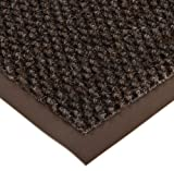 Notrax 136 Polynib Entrance Mat, for Lobbies and Indoor Entranceways, 3' Width x 10' Length x 1/4'' Thickness, Brown