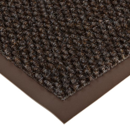 Notrax 136 Polynib Entrance Mat, for Lobbies and Indoor Entranceways, 3' Width x 10' Length x 1/4'' Thickness, Brown by NoTrax (Image #1)