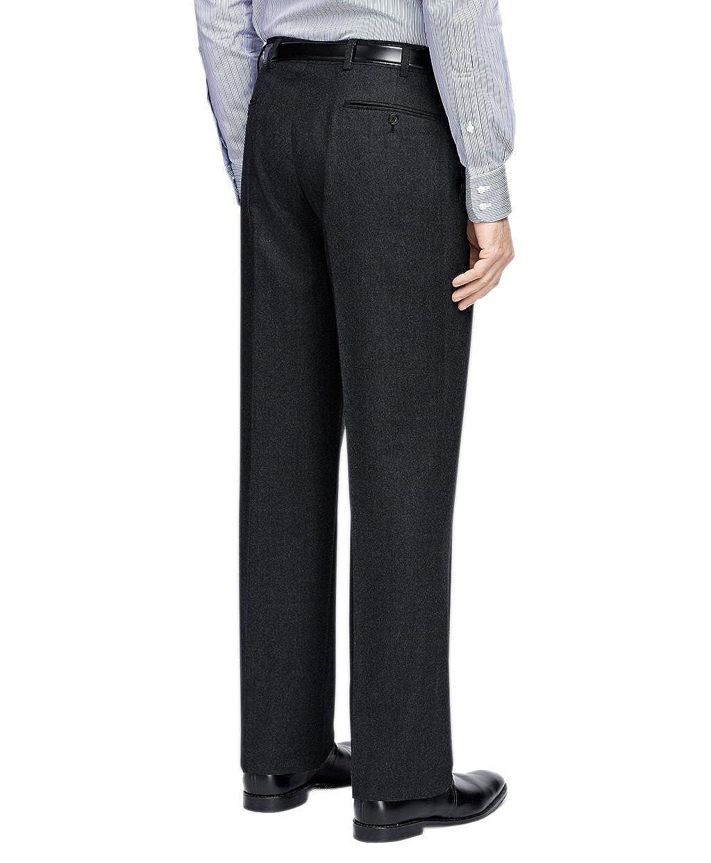 Brooks Brothers Mens Madison Fit Flat Front 100/% Wool Dress Pants Dark Charcoal Grey