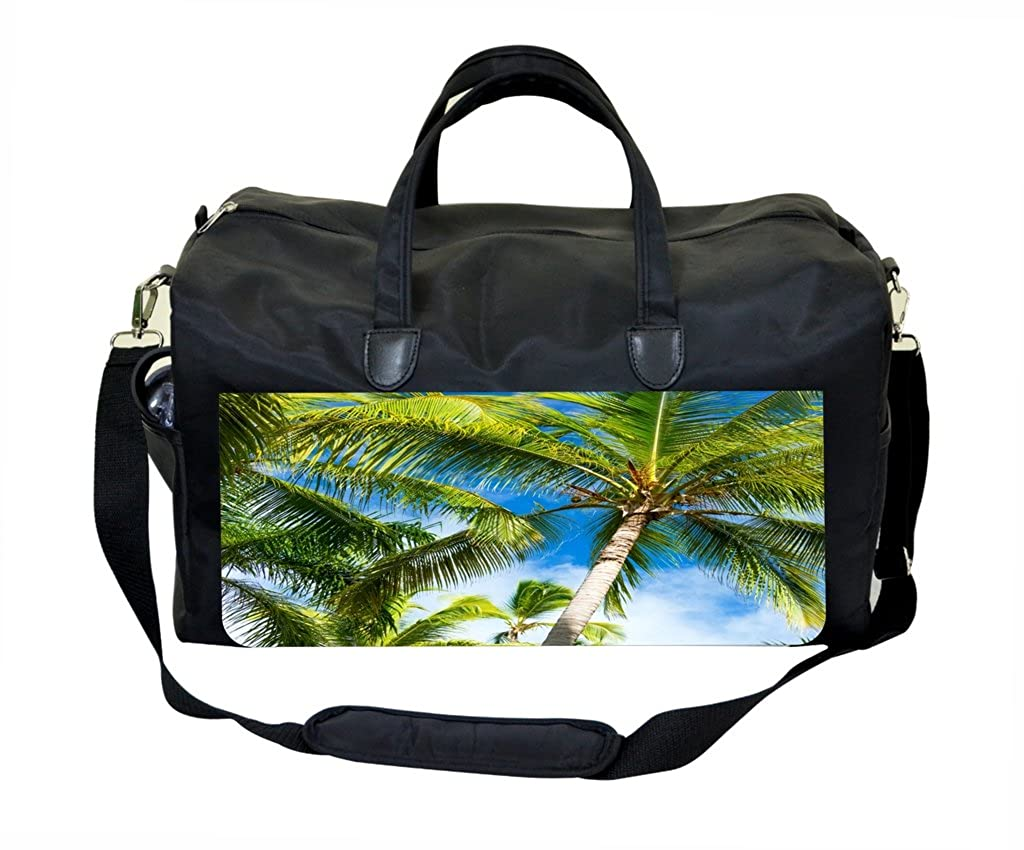 Palm Trees PU Leather and Suede Therapist Bag