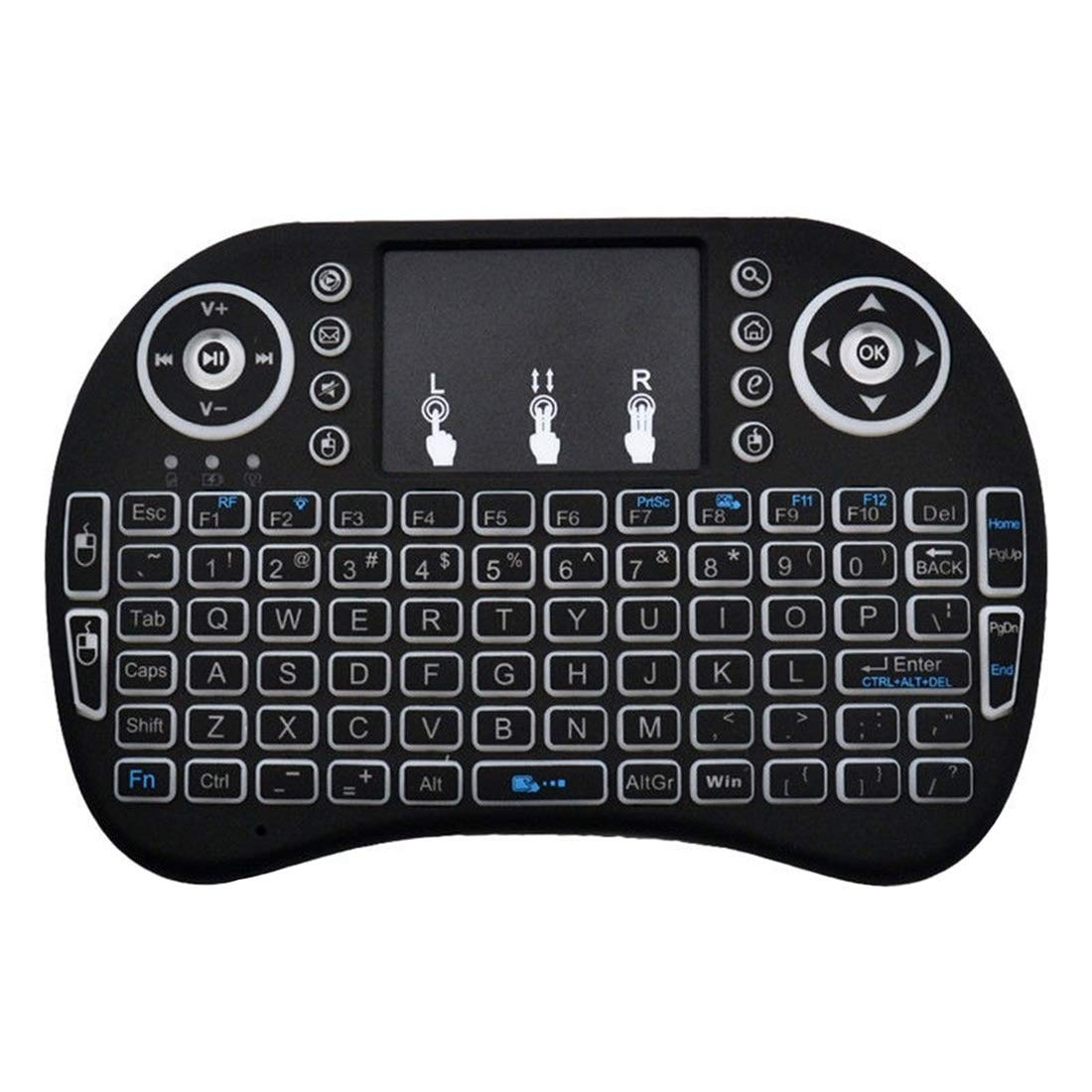 JINYANG Helpful Mini i8 Air Mouse 92-Keys QWERTY 2.4G Wireless Backlight Keyboard with Touchpad for Android TV Box /& Google TV Box /& PC Tablet /& Xbox360 /& PS3 /& HTPC//IPTV Support Auto Sleep and Auto
