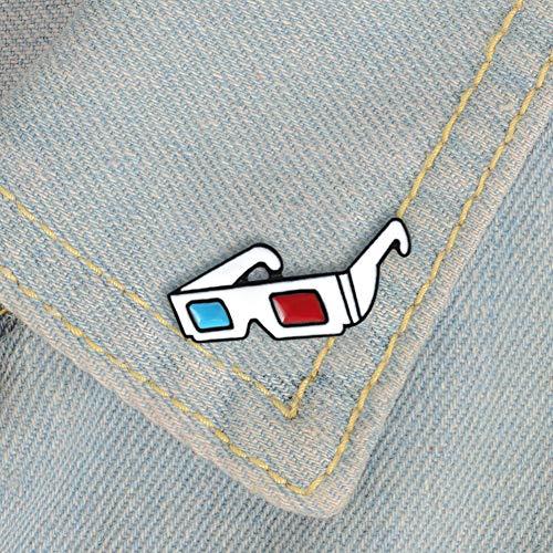 Red CHoppyWAVE Enamel Brooch Pin,Cartoon Multicolor Camera Badge Collar Lapel Brooch Pin Clothes Jewelry Decor