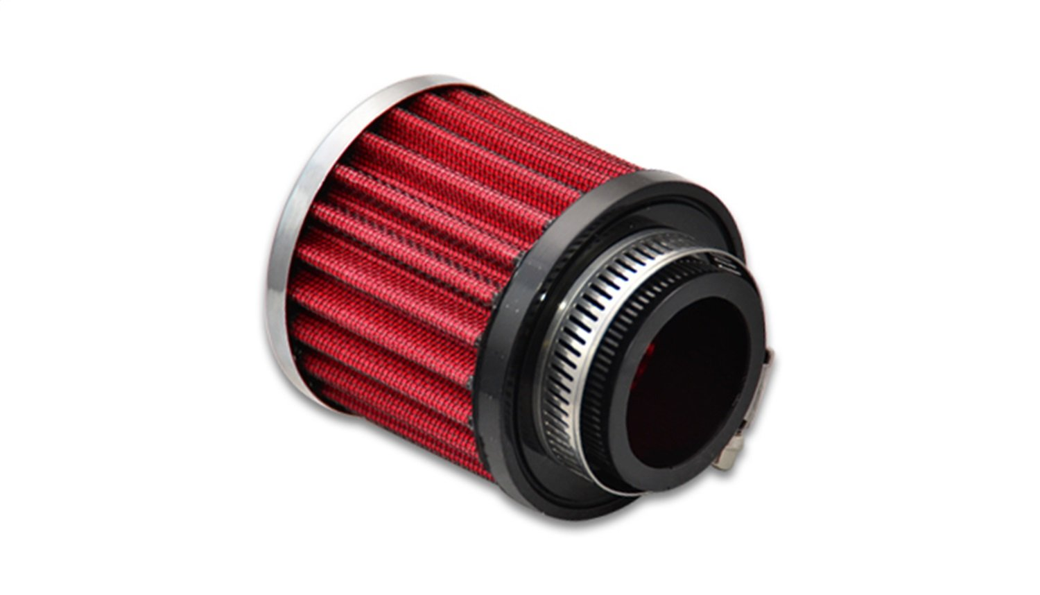 Vibrant Performance 2188 Crankcase Breather Filter w/Chrome Filter Cap 3 in. O.D. 3 in. Tall 1.5 in. I.D. Crankcase Breather Filter w/Chrome Filter Cap