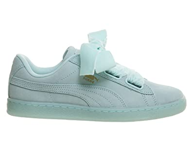 PUMA Suede Heart Reset Aruba Womens Trainers Teal Blue - 6 UK 549c2d2df8