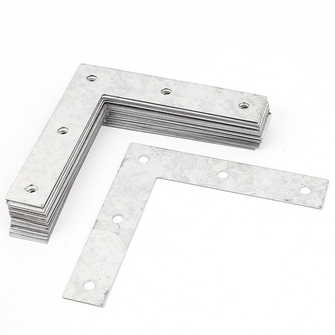 Flat Corner Braces L Shaped Metal Angle Brackets Plates 20pcs