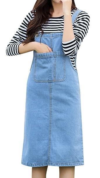 f04ac10dda Yasong Women's Denim Dress: Amazon.co.uk: Clothing