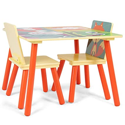 Miraculous Amazon Com Honey Joy Kids Table And 2 Chairs Set Table Caraccident5 Cool Chair Designs And Ideas Caraccident5Info