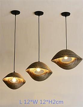 LUCKY CLOVER-A Lámpara de Techo Estilo Rústico Forma de ...