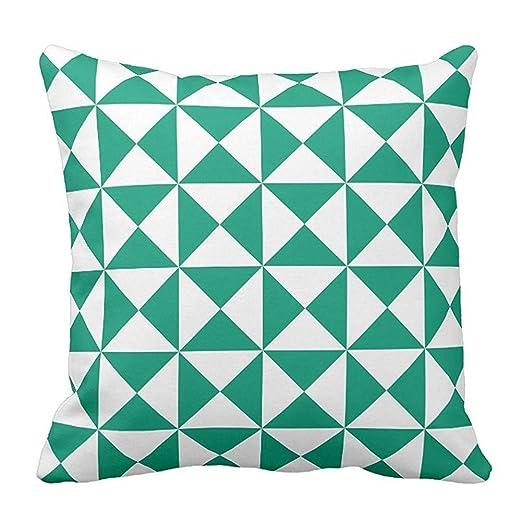 Algodón Fashion Custom patrón funda de almohada decorativa ...