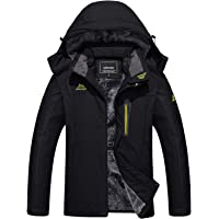 TACVASEN Men's Winter Jackets-Outdoor Ski Snowboard Windproof Fleece Lining Jacket Hooded