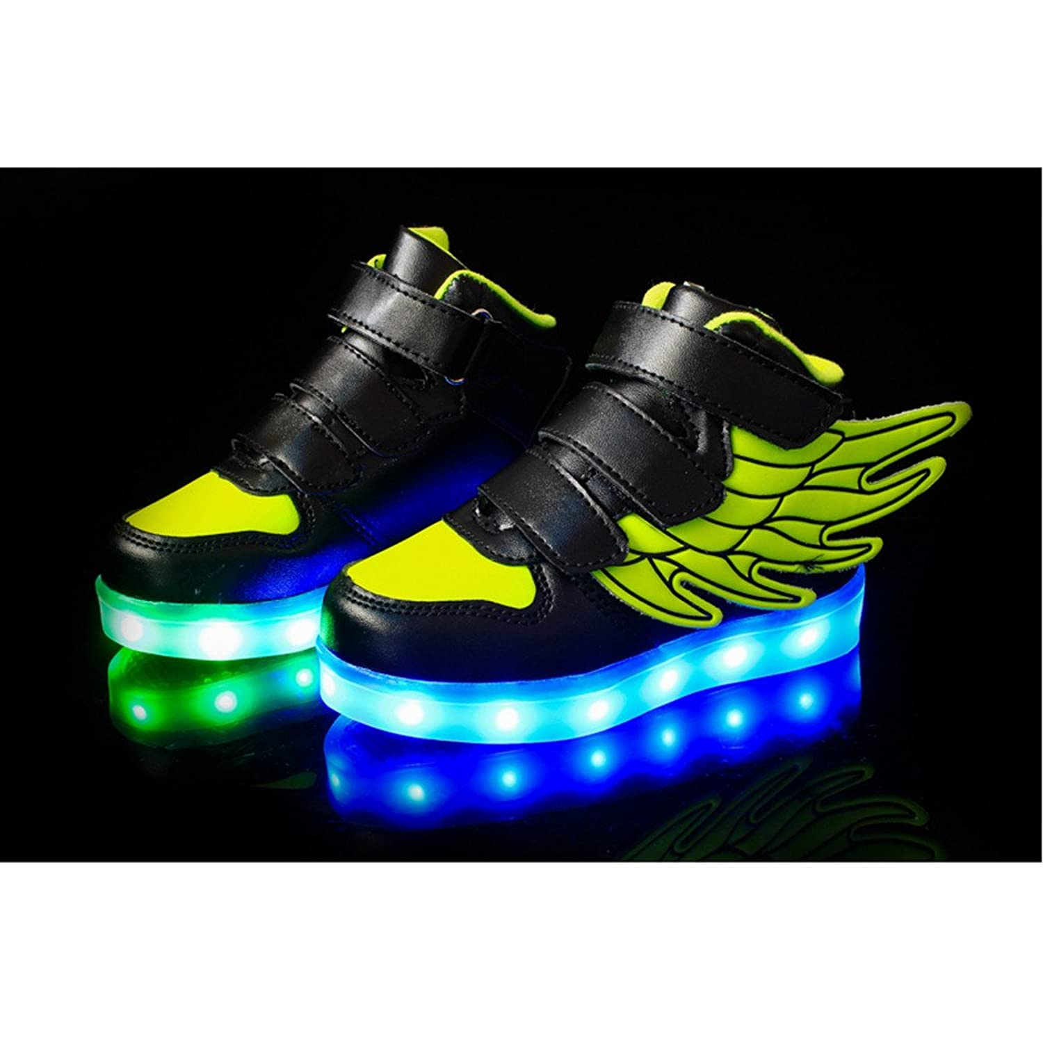 Amazon.com | SAGUARO Little Boy Girl LED Light Up Glow Shoes USB Charging Flashing Running Sneakers with Wings | Running