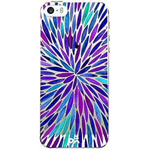 DailyObjects Purple Watercolor Burst Clear Case For iPhone SE