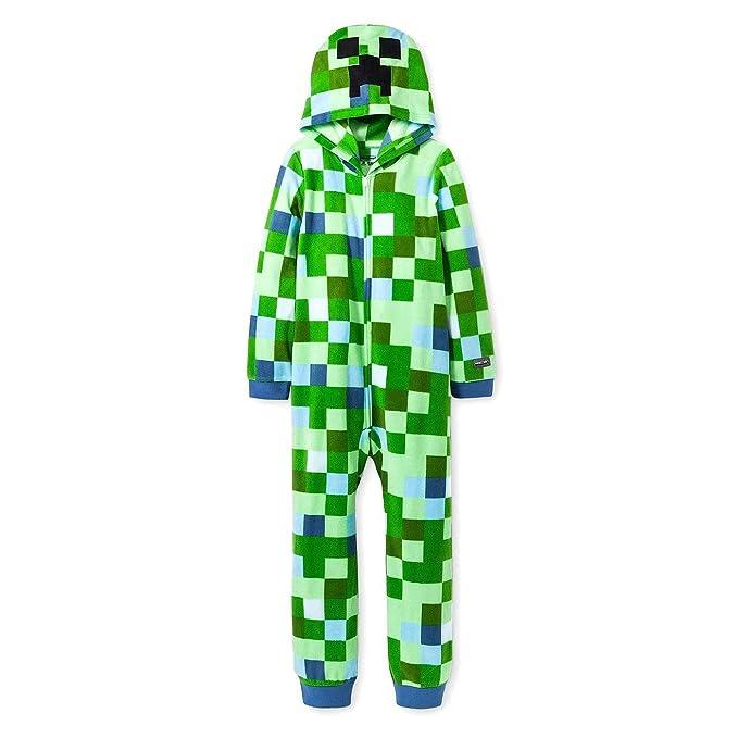 Amazon.com: Minecraft Charged Creeper - Pijama con capucha ...