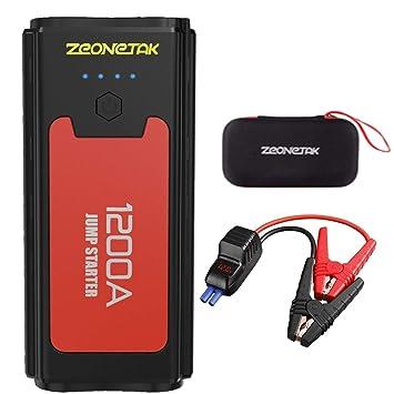 Bolt Power D28 - Arrancador y cargador de batería externo y portátil (5 en 1, 13600 mAh, puertos USB dobles), color negro: Amazon.es: Coche y moto
