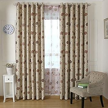 SQDJJCL Idyllischen Kleinen Frischen Stil Gardinen Wohnzimmer Schlafzimmer Balkon Fenster Schattierung Produkte Custom Vorhnge