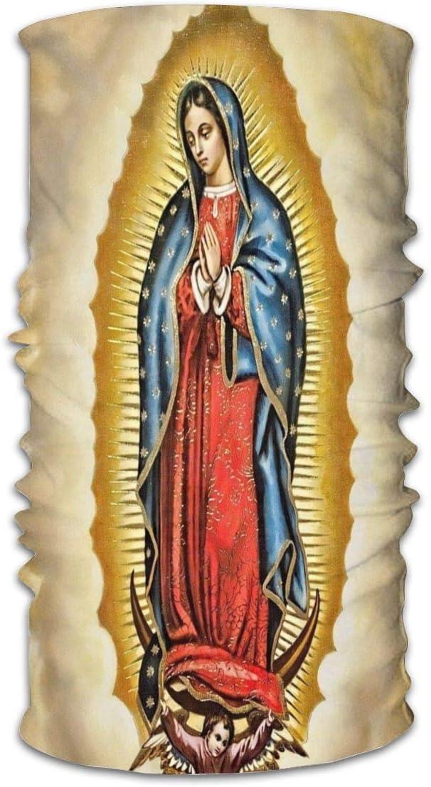 longdai Jungfrau Maria Unsere Liebe Frau von Guadalupe M/änner Frauen Halsw/ärmer Gesichtsmaske Bandanas Hut