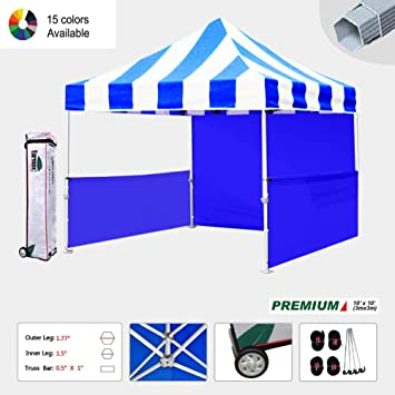 Eurmax Premium 10x10 Carnival Canopy Market Stall Canopy Booth Portable Exhibition Booth Trade Show Display Outdoor  sc 1 st  Amazon.com & Amazon.com: Eurmax Premium 10x10 Carnival Canopy Market Stall ...