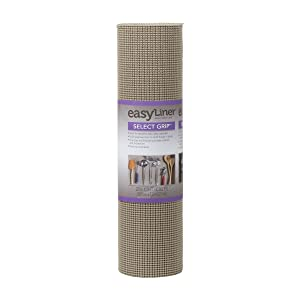 Duck Brand Select Grip EasyLiner Shelf and Drawer Liner, Non-Adhesive, 20-Inch x 24-Feet, Non-Adhesive, Brownstone, 281874