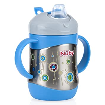 Amazon.com: Nuby - Vaso con 2 asas (acero inoxidable ...