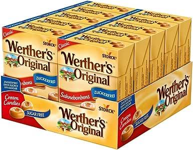 Werthers Original Cream Sugar Free Candies in Box, 10 x 42 Grams