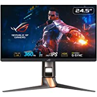 ASUS ROG Swift 360Hz PG259QN Esports NVIDIA® G-SYNC® Gaming Monitor – 24.5 inch FHD (1920 x 1080), 360 Hz, Fast IPS, 1…
