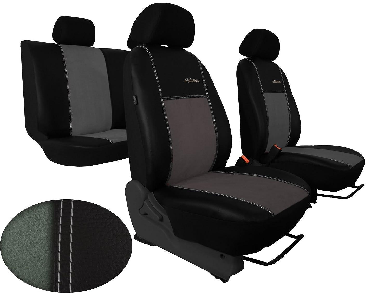 In diesem Angebot HELLGRAU. POKTER-ALC Auto Sitzbez/üge passend f/ür 80 B3//B4 Designe ALKANTRA Exclusive mit Kunstleder Super Qualit/ät