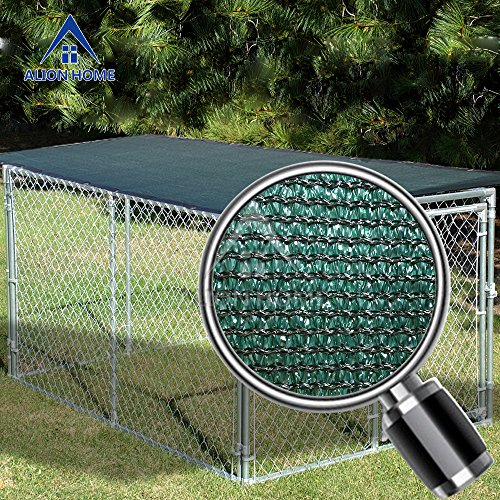 Alion Home Sun Block Dog Run & Pet Kennel Shade Cover (Dog kennel not included) (10' x 6', Dark Green) by Alion Home (Image #1)