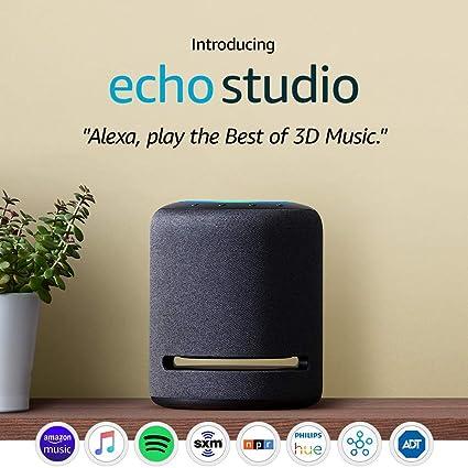 Amazon.com: Presentamos Echo Studio - Altavoz inteligente de alta