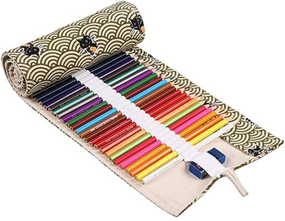 JoyRolly Estuche Pinturas para niños Estuche Escolar Estuche para lápices Enrollable Lápiz Caso Lápiz lápiz Abrigo Bolsa de lápiz 12: Amazon.es: Hogar