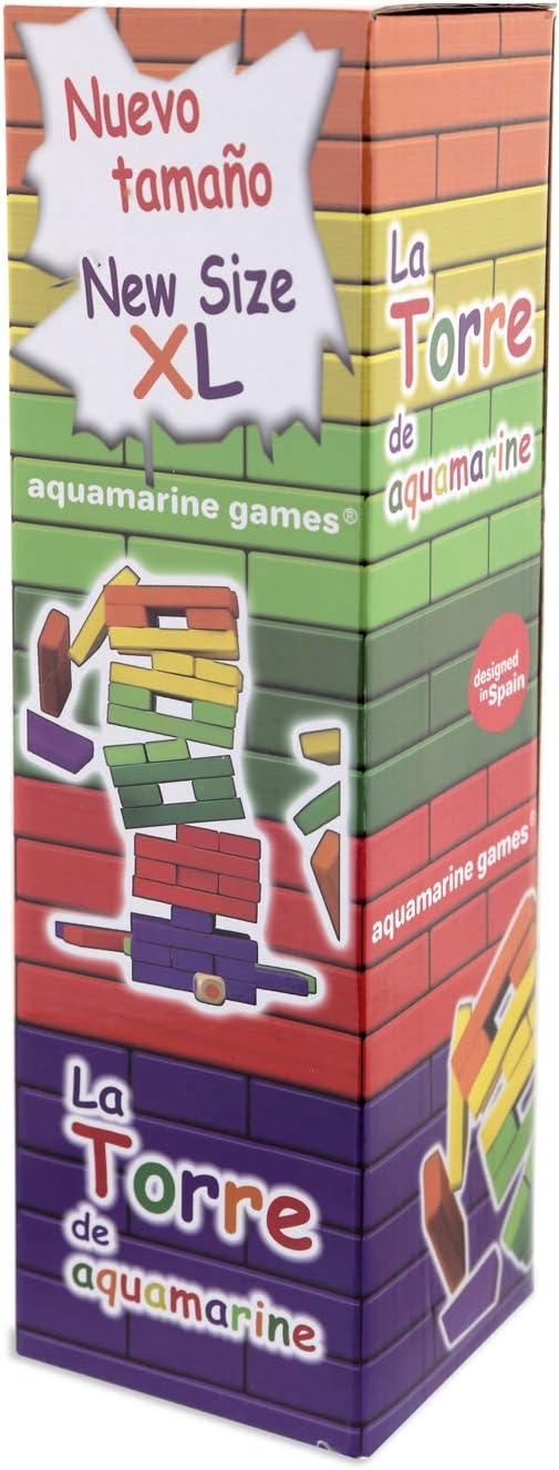 Aquamarine Games - La Torre de Colores XL, Juego de Habilidad (Compudid CPES03): Amazon.es: Juguetes y juegos